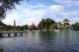 Seeblick auf das Schloss Mattsee